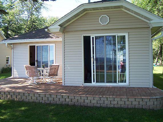 Captain's Quarters cottage brick patio